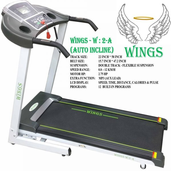 Wings W2 A Treadmill Motorized with Auto incline
